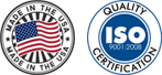 Made in the USA | ISO Quality Certification